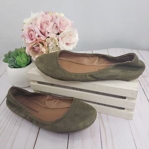 Lucky Brand Olive Green Suede Ballet Flats 6